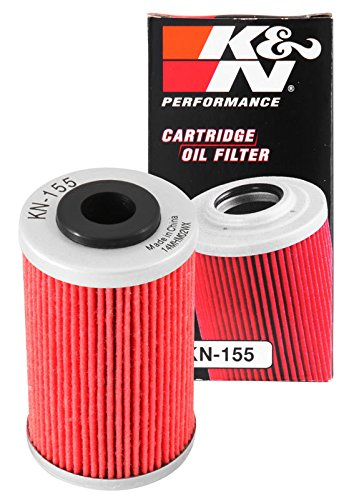 KN-155 K&N Performance Oil Filter; POWERSPORTS CARTRIDGE (Powersports Oil Filters):