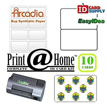 amazon com print home 10 id kit for pvc like id badges at home