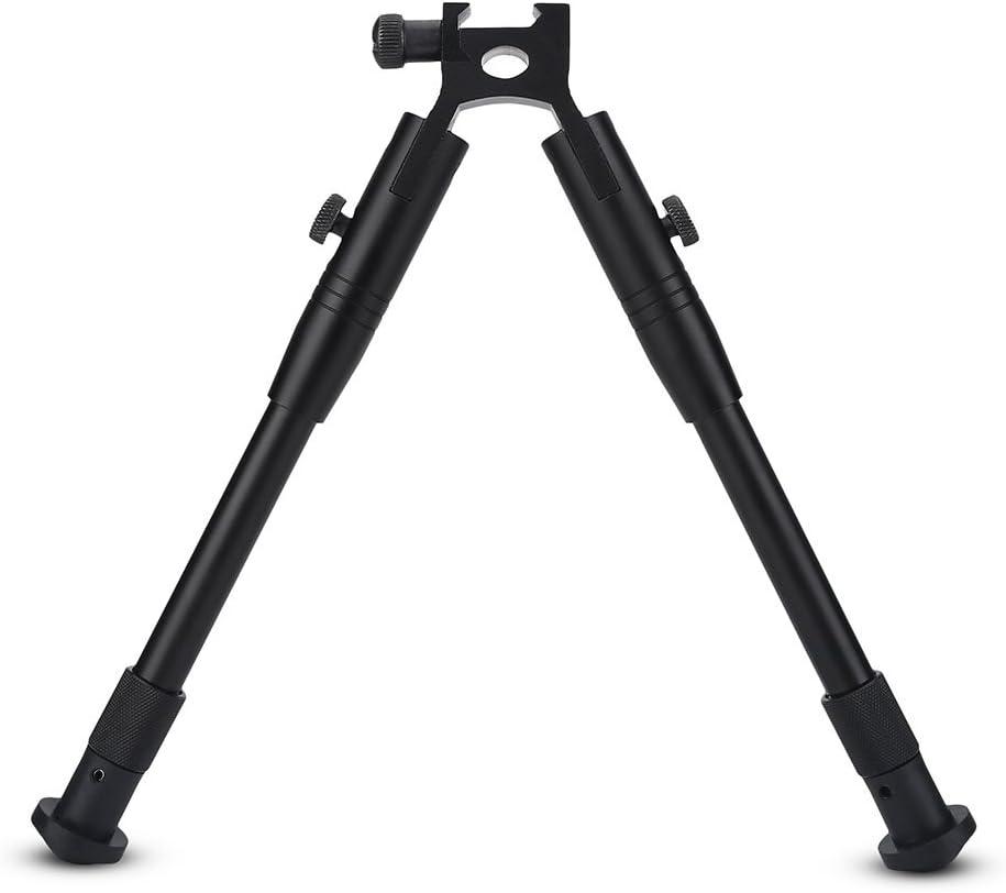 Soporte Pistola Rifle Bipod Giratorio Ajustable Pivote Inclinable Bipod Montaje Universal Adaptador de Barril