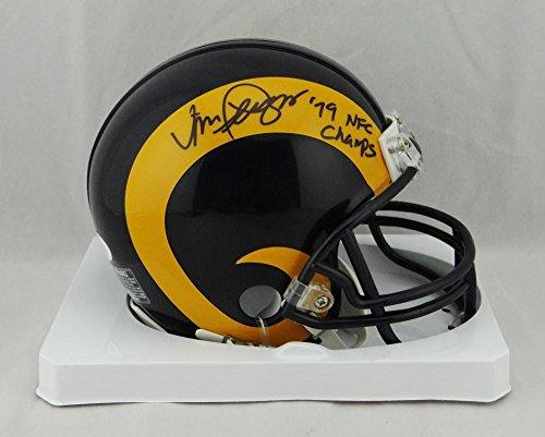 Vince Ferregamo Autographed Rams Mini Helmet w/ 79 NFC Champs-JSA W Auth (Louis Rams Autographed Mini Helmet)
