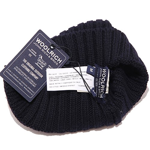Blue Hat Bimbo Blu Cuffia Boy Wool Kid Beanie Dark Woolrich 0125w Scuro Lana qC8X1