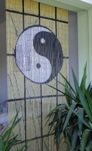 Bambusturvorhang Bambusvorhang Turvorhang Ying Yang Ca 90x200cm