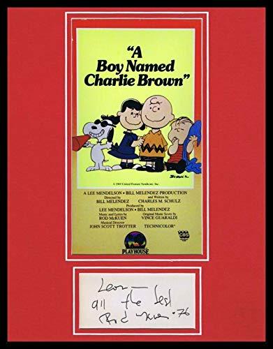 Rod McKuen Signed Framed 11x14 Note & A Boy Named Charlie Brown Poster Display - Autographed NFL Photos