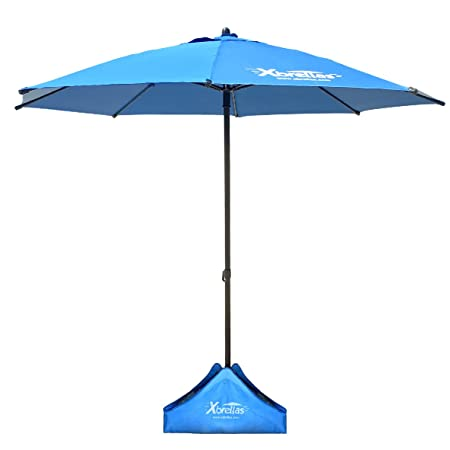 Xbrellas -High Wind Resistant Beach Umbrella Sand Base – 7.5 Round Patent Pending