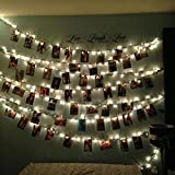 Mostsola 10 Pcs LED Photo Clip String Lights Perfect for Pictures Notes Artwork LED Decor (Warm White)