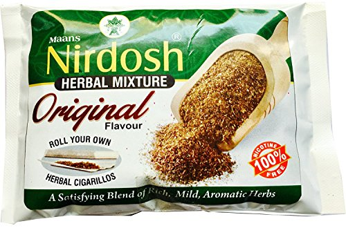 NIRDOSH Organic Herbal Natural Smoking Mixture 100% Nicotine Tobacco Free - 1 Pack (1.75oz Per Pack) Pouch Packaging