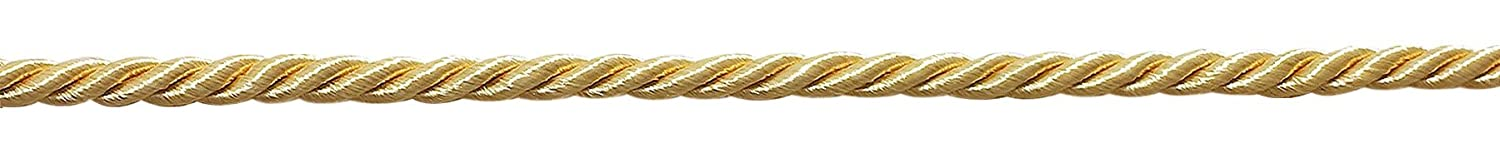B7 Basic Trim Decorative Rope Style# 0316NL Color: Light Gold D/ÉCOPRO 16 Yard Value Pack of Small 3//16 Light Gold 50 Feet // 15M