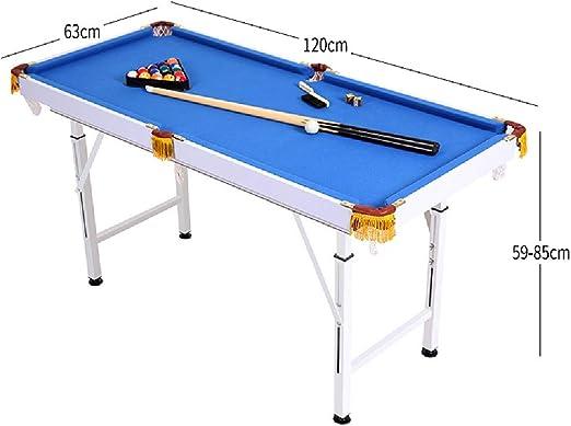 Mesa de billar YYX Plegables Ajustables Billar/Pool Juego Set Mesas for familias, niños y audlts - Incluye 2 Cues, 16 Bolas, Cepillo y el triángulo (Size : Length 140 cm): Amazon.es: Hogar