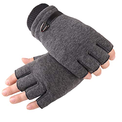 KnBoB Winter Gloves Touch Screen Gloves for Men Winter Bicycle Gloves Men Brown One Size ()