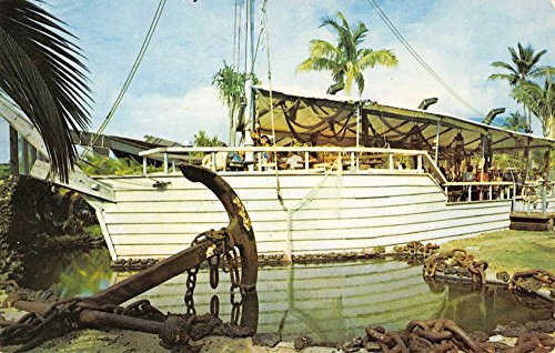 Lahaina Maui Hawaii Kaanapali Beach Hotel Ship Wreck Bar Vintage Postcard - Stores Kaanapali