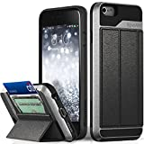iPhone 6S Wallet Case, Vena [vCommute][Drop Protection] Flip Leather Cover Card Slot Holder with Kickstand for Apple iPhone 6 6S (Space Gray/Black)