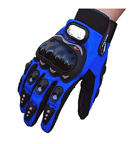 Evaliana Men's Motocross Cycling Motorcycle Motorbike Riding Racing Gloves Full Finger  Blue  XX-Large