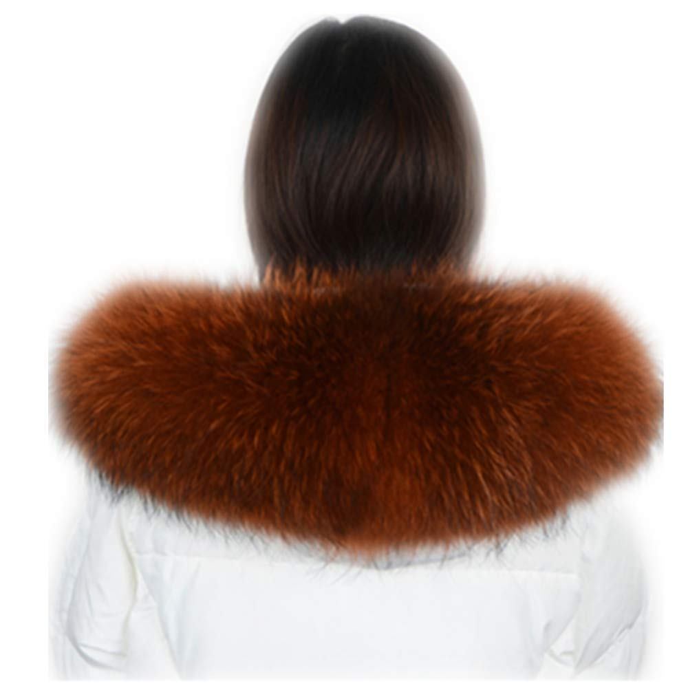MH Bailment Genuine Mink Fur Slouchy Fox Fur Tail Beanie Cap (One Size, Brown)
