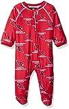 Outerstuff NFL Arizona Cardinals Newborn Boys Sleepwear All Over Print Zip Up Coveralls, 6 Months, Cardinal