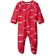 NFL Seattle Seahawks Newborn Boys Sleepwear All Over Print Zip up Coveralls, 9 Months, Dark Navy
