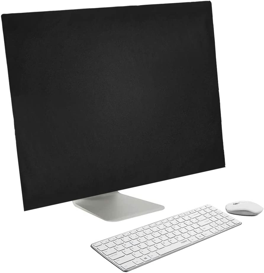 Compatible with iMac 27'' Monitor Dust Cover, findTop Non-Woven Antistatic PC Computer Monitor Case Screen Display Protector LED/LCD/HD Panel (27 inch, Black)