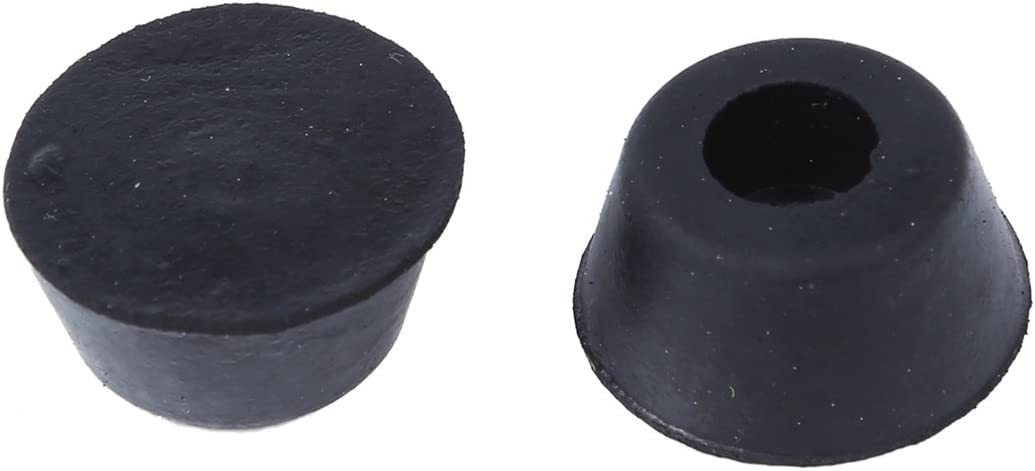 Summerwindy 10pzs 21mm 10mm lmohadillas de Tope de pie de Goma Empotrado conico Negro