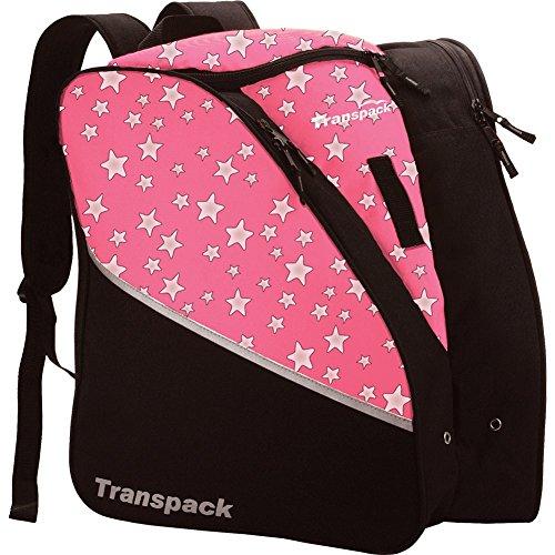 Transpack Edge Jr Kids Ski/Snowboard Boot and Gear Bag ~ Pink Star (Bag Pink Snowboard)