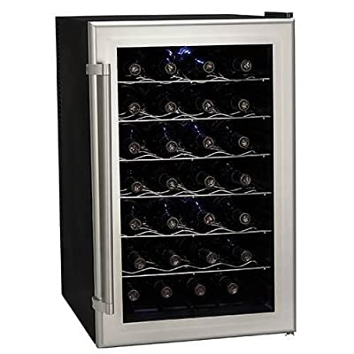 Koldfront 28 Bottle Ultra Capacity Thermoelectric Wine Cooler - Platinum