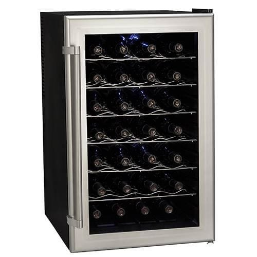 Koldfront TWR282S 28 Bottle Ultra Capacity Thermoelectric Wine Cooler - Platinum (Freestanding Mid Range)