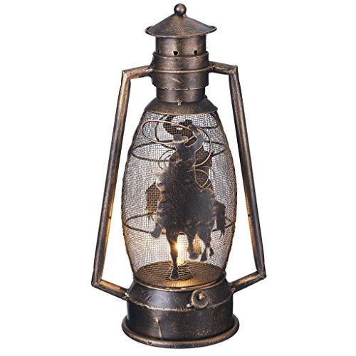 - Tough 1 Western Lantern Brushed Metallic Cutout Horse Bronze 87-93762