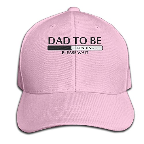 Fortinyro Dad To Be Loading Please Wait Men's Peaked Baseball Cap Pink (Rorschach Hat)