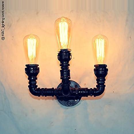 LIYAN - Lámpara de pared minimalista E26/27 base de tres ...
