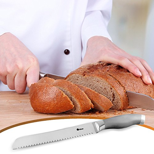 ORBLUE Serrated Bread Knife, Ultra-Sharp Stainless Steel Bread Cutter by Orblue (Image #3)