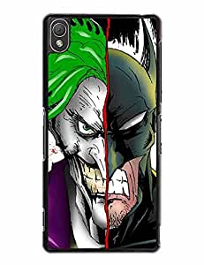 Batman and Joker Sony Xperia Z3 Fundas, DC Comics Magic DIY Hard Plastic Phone Accessory for Sony Xperia Z3, the Best Christmas Gifts Only for Sony Xperia Z3