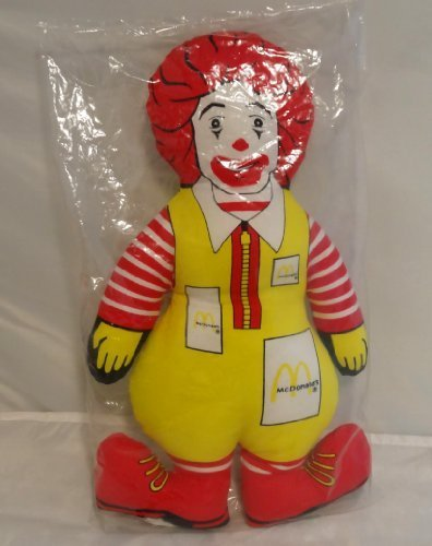 Rare 1984 Ronald McDonald 12 inch Plush Cloth Collector Doll Toy by McDonald's