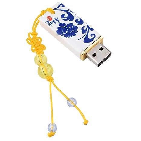 Amazon.com: Disco USB de estilo chino, impresión creativa ...