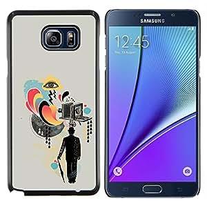 YiPhone /// Prima de resorte delgada de la cubierta del caso de Shell Armor - Collage de la cámara Arte Señores Cine - Samsung Galaxy Note 5 5th N9200
