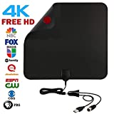 TV Antenna,50 Mile Range HDTV Antenna,Amplified TV Antenna HD with Amplifier Signal Booster and 10ft Coaxial Cable,Antenna TV Digital HD Apply to UHF/VHF/FM and FHD
