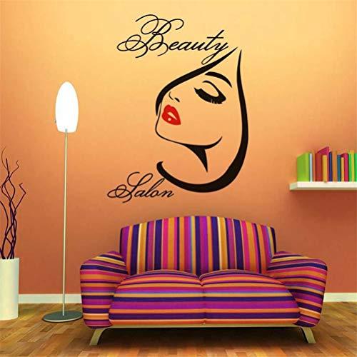 Wall Stickers Decor Motivational Saying Lettering Art Beauty Salon Spa Makeup Red Lips Sticker Decal Window ()