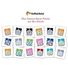 18 KaWaii Baby Printed Snap One Size Pocket Cloth Diaper Shells (8-36 lbs)