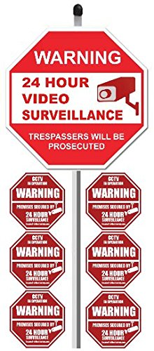 Video Surveillance Security System Stickers