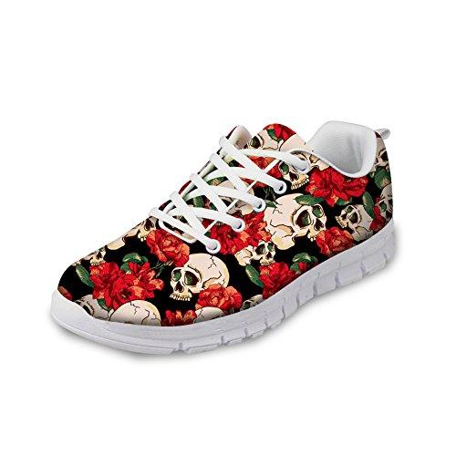 Trendy 8 Skull Women Pattern Trail CHAQLIN skull Sneakers Breathable Shoes AZdxqAzwv
