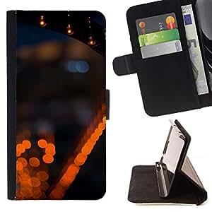 For Sony Xperia Z1 Compact / Z1 Mini (Not Z1) D5503 Case , Luces de la ciudad la noche borrosa borrosa- la tarjeta de Crédito Slots PU Funda de cuero Monedero caso cubierta de piel