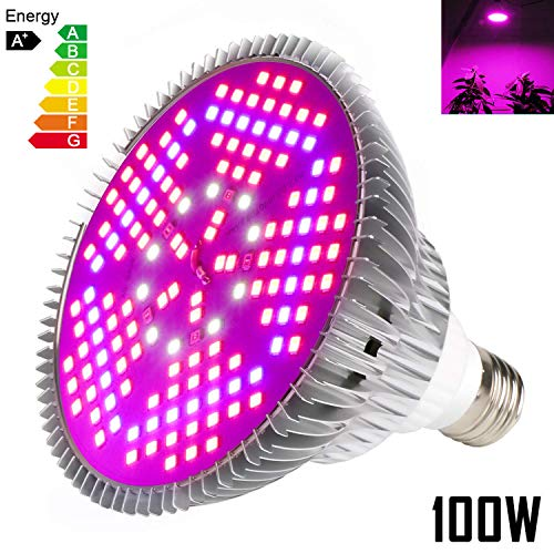 $21.99 100W Led Grow Light Bulbs Full Spectrum,150 LEDs indoor plant growing lights Lamp for Vegetable Greenhouse Hydroponic, E26 Indoor Grow Light AC 85~265V 2019