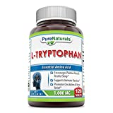 Pure Naturals L-Tryptophan Dietary Supplement - 1000 mg, 120 Tablets- Natural Sleep Aid - Promotes Relaxation, Circulation & Immune Support