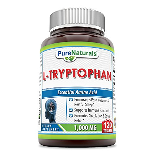 Cheap Pure Naturals L-Tryptophan Dietary Supplement – 1000 mg, 120 Tablets- Natural Sleep Aid – Promotes Relaxation, Circulation & Immune Support