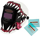 iMeshbean Pro Cool Solar Auto-Darkening Welding & Grinding Helmet + 2 pcs Extra Lens Covers ANSI Certified Model#1034 -LIFE TIME WARRANTY USA