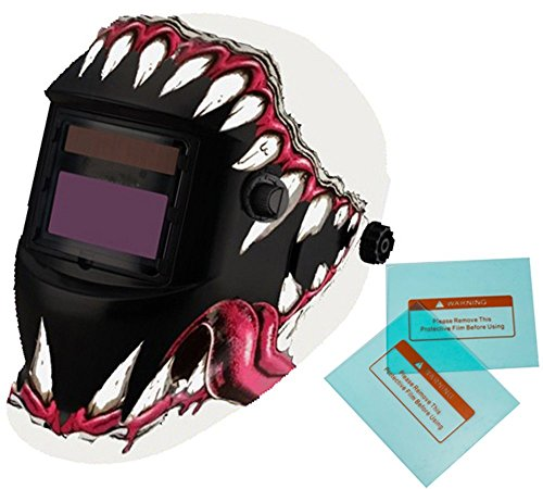 iMeshbean Pro Cool Solar Auto-Darkening Welding & Grinding Helmet + 2 pcs Extra Lens Covers ANSI Certified Model#1034 -LIFE TIME WARRANTY USA