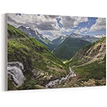 Westlake Art - Mountainous Landforms - 12x18 Canvas Print Wall Art - Canvas Stretched Gallery Wrap Modern Picture Photography Artwork - Ready to Hang 12x18 Inch (FD8E-86568)