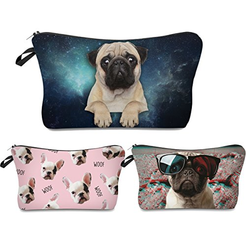Roomy Cosmetic Bag,3 piece Set Deanfun Waterproof Travel Toiletry Pouch Makeup with Zipper