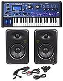 Novation MiniNova 37-Key Studio USB MIDI Keyboard Synthesizer + (2) 5'' Monitors