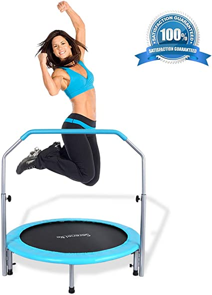 "Portable 40/"" Folding Mini Fitness Trampoline Jump Home Gym Yoga Exercise Workout"