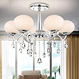 LightInTheBox Modern Elegant 6 Light Chandelier with Global Shade, Modern Home Ceiling Light Fixture Flush Mount, Pendant Light Chandelie