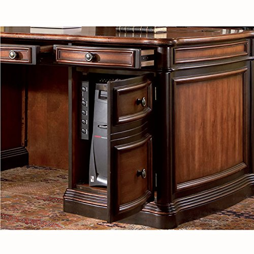 amazoncom coaster home office executive desk in two tone warm brown finish kitchen dining amazoncom coaster shape home office