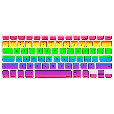 "Kuzy - Rainbow Keyboard Cover Silicone Skin for MacBook Pro 13"" 15"" 17"" (with or w/out Retina Display) iMac and MacBook Air 13"" - Rainbow by Kuzy"